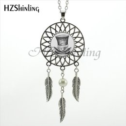 silver dreamcatcher necklace Australia - 2020 Trendy Style Mad Hatter Necklace Dream Pendant Alice Wonderland Hat Jewelry Silver Dreamcatcher Necklace NDC-0040