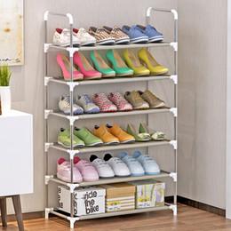 $enCountryForm.capitalKeyWord NZ - Multifunctional 4 5 6-tier Racks Cabinet Large Stackable Shelves Holds Shelf For Shoe Book Home Storage Organizer Q190610