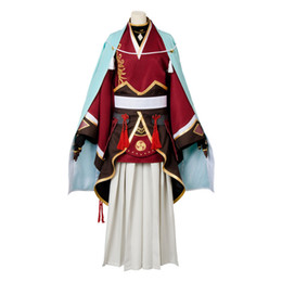 Wholesale samurai costumes for sale – halloween Touken Ranbu Online Kasen kanesada Cosplay Costume Full Set Samurai Kimono Costumes Halloween Carnival costume Full Sets