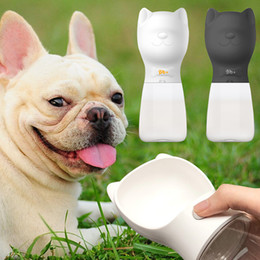 plastic bulldogs UK - 480 ML Portable Pet Water Bottle For Dogs French Bulldog Pug Travel Puppy Cat Drinking Bowl Outdoor Pet Water Dispenser Feeder