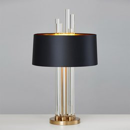 $enCountryForm.capitalKeyWord UK - Modern Luxury Light Glass Designer Table Lamp Living Room Bedroom Bedside Fabric Lampshade Home Lighting Fixtrues E27 100-240V