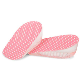 silicone cushion pad inserts shoe UK - Heel Support Pad Cup Soft Silicone Gel Half Insole Shock Cushion Relief Insert For Shoes Care Foot Inserts Soft Half Height