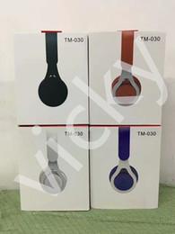 $enCountryForm.capitalKeyWord Australia - Top Quality EP TM-030 Sound Recorder Street Headphones Wireless Bluetooth Headset Beyond Licensed Sound Card FM Function Audio Cable Dual Us