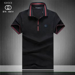 a4bd1feda 19ss 2018 Sales Famous Business men shorts sleeve Polo shirts Popular  Cotton embroidery Wheat Polos Custom Designers made