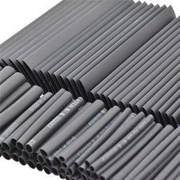tube diode 2019 - 127pc Black Heat Shrink Tube Assortment Wrap Electrical Insulation Cable Tubing cheap tube diode