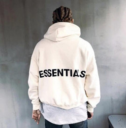 Loose cLothing online shopping - ESSENTIALS Hooded Hoodies Mens Womens Fashion Brand Streetwear Pullover Sweatshirts Loose FOG Brand Hoodies Lovers Tops Clothing