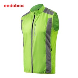 fluorescent jerseys UK - EEDABROS Night Fluorescent High Visibility Reflective Safety Vest For Cycling Running Sport Safety Vest Sleeveless Jersey