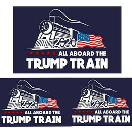 Wholesale Fashion Trump Car sticker Donald Iocomotive Stickers Train Window Sticker Home Living Room Decor Wall Stickers