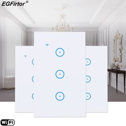 $enCountryForm.capitalKeyWord Australia - Wifi Smart Switch 3 Gang Walling Light Switch AC110V US Standard Home Automation Control Touch Wall LED Light Smart Home