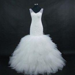 $enCountryForm.capitalKeyWord UK - Arabia 2019 New African Full Beaded V Neck Floor-Length Mermaid Long Wedding Dresses Bridal Gowns With Videos
