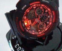 Kostenlose lieferung 2019 mode männer frauen g stil sport armbanduhren dual display led digital schock quarz sportuhren männlichen studenten uhr