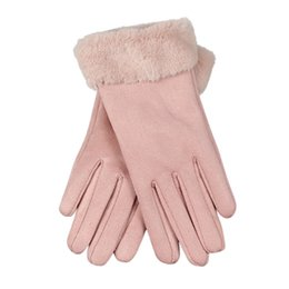 $enCountryForm.capitalKeyWord Australia - Feitong High Quality Fashion Women Imitation Leather Gloves Autumn Winter Warm Fur Mittens2019 Hot Sale Fashion Gift