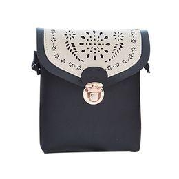 f71f164678a7 Cheap Black Retro Vintage Hasp Leather Handbag Women Single Shoulder Party  Handbag Crossbody Travel Cell Phone Crossbody Handbags  YL