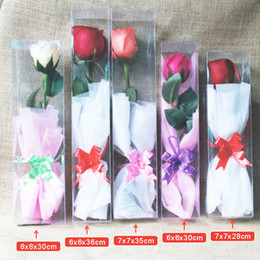 $enCountryForm.capitalKeyWord Australia - Transparent Plastic PVC Boxes for Single Rose Display Soap Flowers Packing Material Gifts for Girlfriend ZC0469