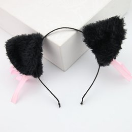 Female Cat Woman Costume Australia - Cat Ears Hair Accessories for Women Female Ladies Head Band Long Fur Headwear Party Christmas Costume Girls Women Headband