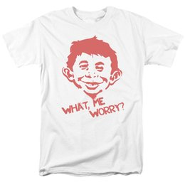 Wholesale Mad Magazine What Me Worry Licensed Adult T Shirt Size Discout Hot New Tshirt Colour Jersey Print T Shirt