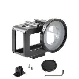 $enCountryForm.capitalKeyWord Australia - Aluminium alloy Metal protective case+52mm UV filter+lens cap+screw+wrench+adapter for DJI OSMO action camera