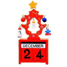 Number Blocks Australia - Christmas Calendar Number Blocks Wooden Xmas Tree Tabletop Decoration Christmas Countdown XHC88