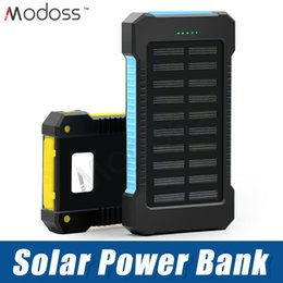 Power Bank External Battery Pack Charger Australia - ZZYD For iP 7 8 Samsung S8 Note 8 Portable Universal 6000mAh Solar Power bank External Battery Pack Dual USB Waterproof Phone Charger