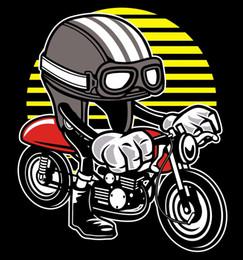 White Black Motorcycle Helmet Australia - Caferacer Motorcycle Helmet T Shirt Black Or White Tee T Shirt MensFashion 2018 O-neck Cotton Big Size Short Sleeve T Shirts For B