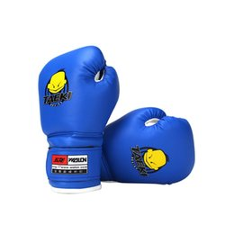 Wholesale fight gear resale online - High Quality Child Pair Durable Boxing Gloves Cartoon Sparring Kick Fight Gloves Training Fists PU Leather Boxing Gloves