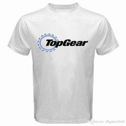 Neck Gear Australia - Summer Sleeves Cotton Short Sleeve Men Gift Top Gear Automotive Crew Neck Shirts