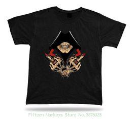$enCountryForm.capitalKeyWord UK - 2018 New Arrival Men's Fashion Skeleton Skull Hood Hand Sign Evil Eye Ring Stylish Design Tshirt Best Gift