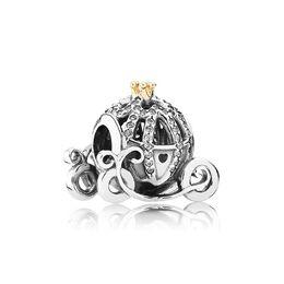 Venta al por mayor de Auténtico 925 plata esterlina calabaza conjuntos de calabaza caja original para Pandora Bricolaje Bracelet Crystal Beads Charms Classic Moda Accesorios