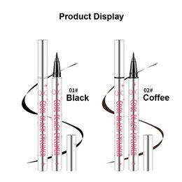 QIC 1PC Negro Eyeliner líquido a prueba de agua Cosméticos de maquillaje de larga duración Delineador de ojos Black Coffee Eyeliner delineador de ojos en venta