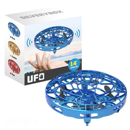 Wholesale 3 Colors UFO Gesture Induction Suspension Aircraft 2020 Smart Flying Saucer With LED Lights Creative Toy Entertainment 9cm L477