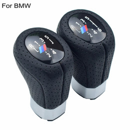 $enCountryForm.capitalKeyWord UK - Leather Manual 6 5 Speed Left Right Drive Gear Shift Knob Head Boot Cover Stick Shifter ball For BMW E87 E90 E92 X1