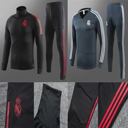 Skinny training pantS men online shopping - Real Madrid tracksuit men s soccer chandal football tracksuit adult training suit skinny pants Sports wear