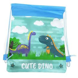 $enCountryForm.capitalKeyWord NZ - 3D Printed Cartoon Dinosaur Backpack Boy Like Non-woven Fabric Drawstring Bag Dust-proof Environment-friendly Child Storage Bag