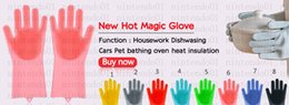 $enCountryForm.capitalKeyWord Australia - Magic Glove Silicone Dish Washing Kitchen Accessories Household Scrubber Multipurpose Kitchen Bathroom Tools Pet Hair Cleaning Tools