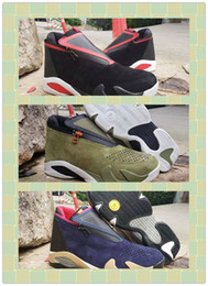 green plastic army men Canada - 2019 New 14 Blue Green black Red Mens Basketball Shoes 14s Sports Sneakers Trainers Designer zipper Chaussures jumpman Zapatos sport shoes