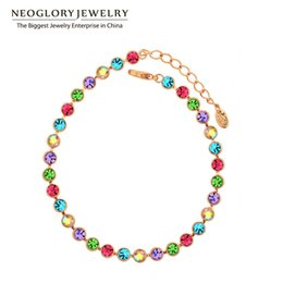 Valentine Gifts Australia - bracelet valentine Neoglory Multi Colorful Beads Bangles & Bracelets Fashion Statement Jewelry Brand Girl Mother Gift 2017 New Hot Colf
