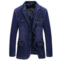 $enCountryForm.capitalKeyWord Australia - Men's spring and autumn denim casual suit men's youth large size fashion British small suit plain color blouse
