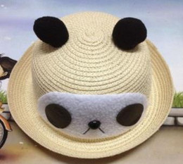 summer panda hat NZ - 2018 Brand New And Fashion Cute Spring And Summer Sun Hat Panda Antler Baby Hat Sunscreen Cap