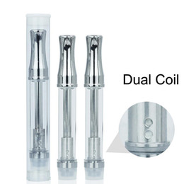 dual glasses Australia - CE3 Glass Tube 92A3 Wickless 510 Thread Atomizer Vape Oil Cartridges Dual Coil Vaporizer Pen Tanks 0.5ml 1ml Clearomizer