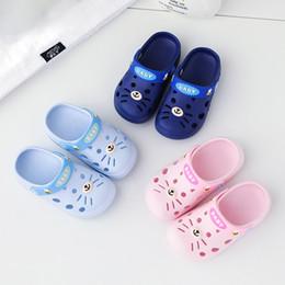 Unisex Bambini Spiaggia Gomma Cartone animato Gatto Pantofole Bambini Neonati zoccoli Scarpe Sandali da giardino Pantofole da giardino S2682 in Offerta