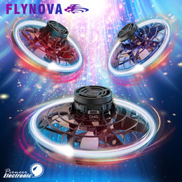 Wholesale Ready To Ship FlyNova UFO Flying toy Fidget Spinner Kids Adult Portable 360° Rotation Spinning Stress Release LED Lights Christmas Gift Toys
