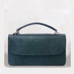 Fashion Cowhide Leather Day Clutch One Shoulder Cross-body Bag Small  Crocodile Pattern Genuine Leather Clutch Chain Women Purse d14dc433f9e09