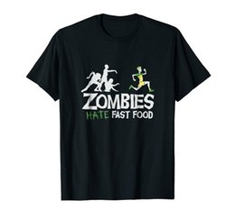 $enCountryForm.capitalKeyWord Australia - Zombies Hate fast Food Black T-Shirt S-3XLFunny free shipping Unisex Casual Tshirt top