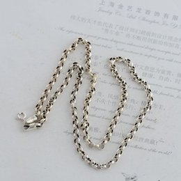 925 silver chains Australia - Hot Sale Fashion 925 Sterling Black Silver 4mm Cable Chain Women Men Necklace Korean Style Jewelry