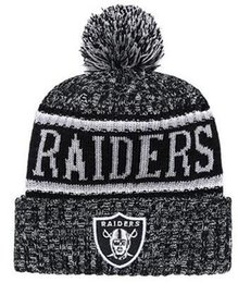 d3301338a1d 2019 Raiders Beanie Sideline Cold Weather Graphite Official Revers Sport  Knit Hat All Team winter Warm Knitted Wool Skull Cap 1000+