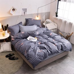 $enCountryForm.capitalKeyWord Australia - Elastic rubber 3 4pcs bedding set duvet cover + fitted sheet +pillowcase New summer star bedclothes bird home pineapple bed set