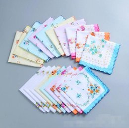 Wholesale Floral Cutters Australia - Home Textiles hot 100% Cotton Handkerchief Cutter Ladies Handkerchief Craft Vintage Hanky Floral Wedding Handkerchief 30*30cm LX4983