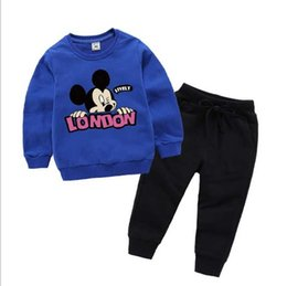 Branded Baby Kids Clothes Australia - 2020 Baby Boys And Girls Suit Brand Tracksuits 2 Kids Clothing Set Hot Sell Fashion Spring Autumn Children's Dresses Long Sleeve