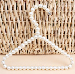 Coating For Plastic Australia - DHL 20cm Plastic Pearl Beaded Pet Kid Clothes Hangers for Dress Coat Wedding Home For Children Save-Space Storage Organizer
