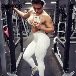 Black Workout Leggings Wholesale Australia - Svokor Women Pink High Waist Fitness Leggings Fashion Nice Female Push Up Black Spandex Pants Workout Leggings Femme Plus Size